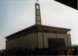 24 Crkva sa prednje strane nakon završetka svih vanjskih radova -  jesen 1982. godine